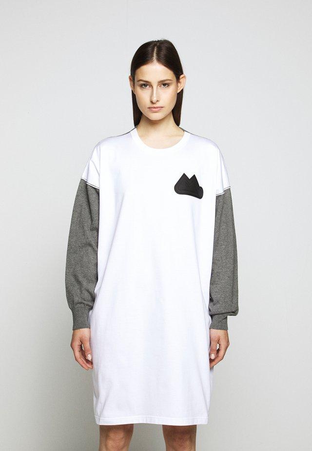 DRESS - Gebreide jurk - grey melange