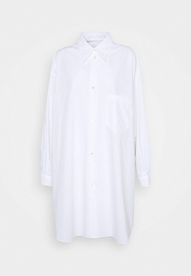 OVERSIZED SHIRT DRESS - Shirt dress - white