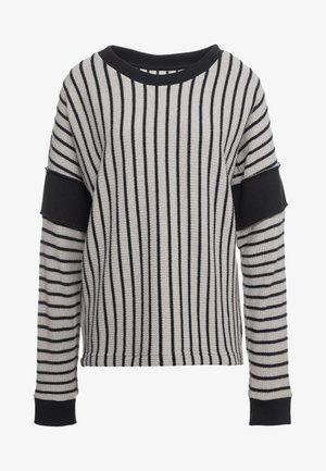 Pullover - beige/black