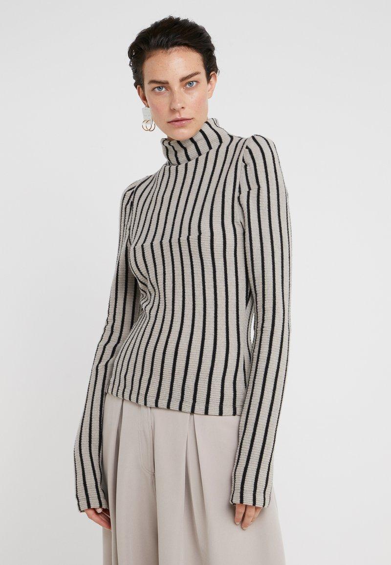 MM6 Maison Margiela - Stickad tröja - beige/black
