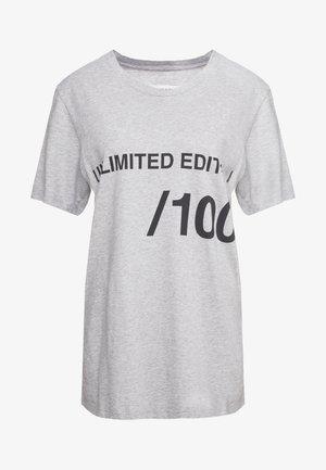 T-shirt print - grey melange