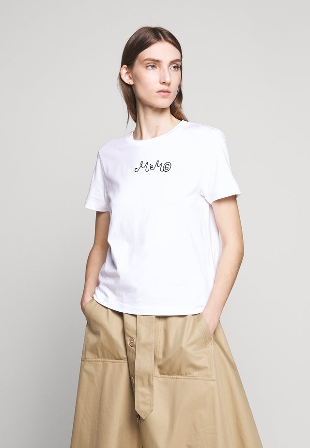 SHORT SLEEVES - T-shirt z nadrukiem - bright white