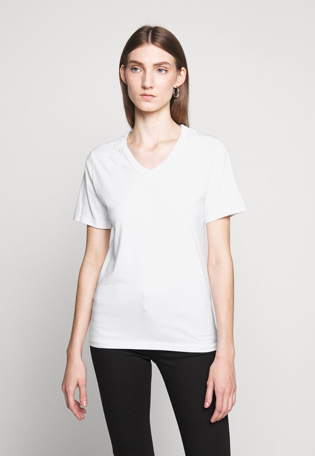 SHORT SLEEVES - T-shirt z nadrukiem - white