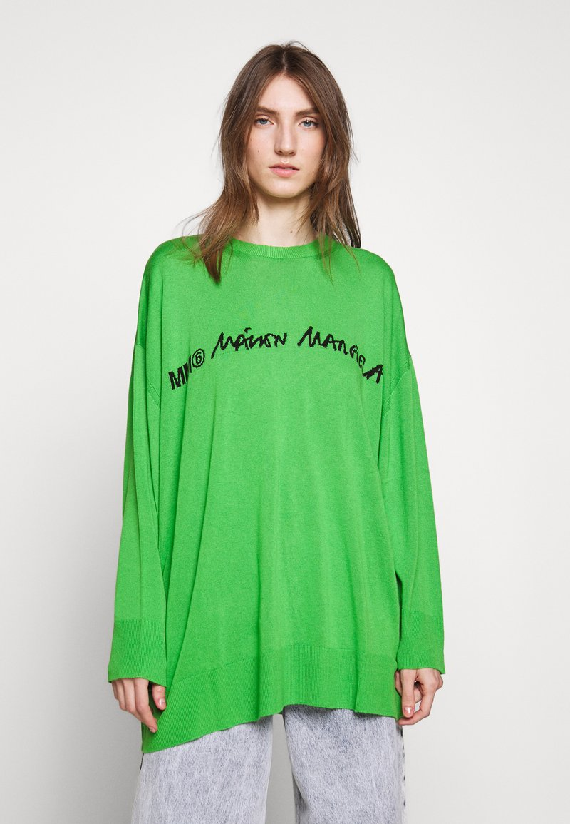 MM6 Maison Margiela - CREW NECK JUMPERS - Svetr - green
