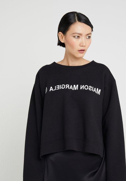 85% ZNIŻKI MM6 Maison Margiela Bluza - black Odzież Damska RJKX-TU6