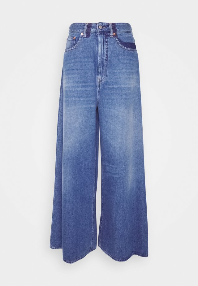 WIDE LEG SHADOW  - Jeans Relaxed Fit - medium cast/shadow