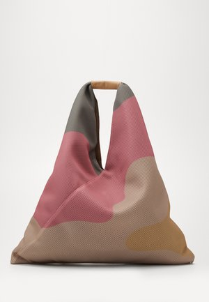 Shopping bag - beige/fuxia/yellow