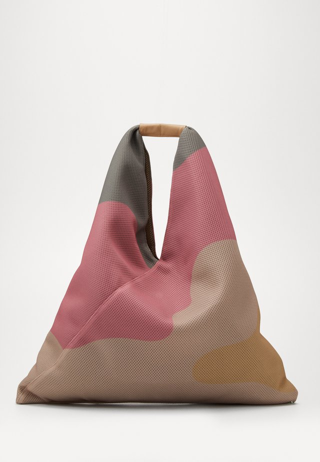 Tote bag - beige/fuxia/yellow