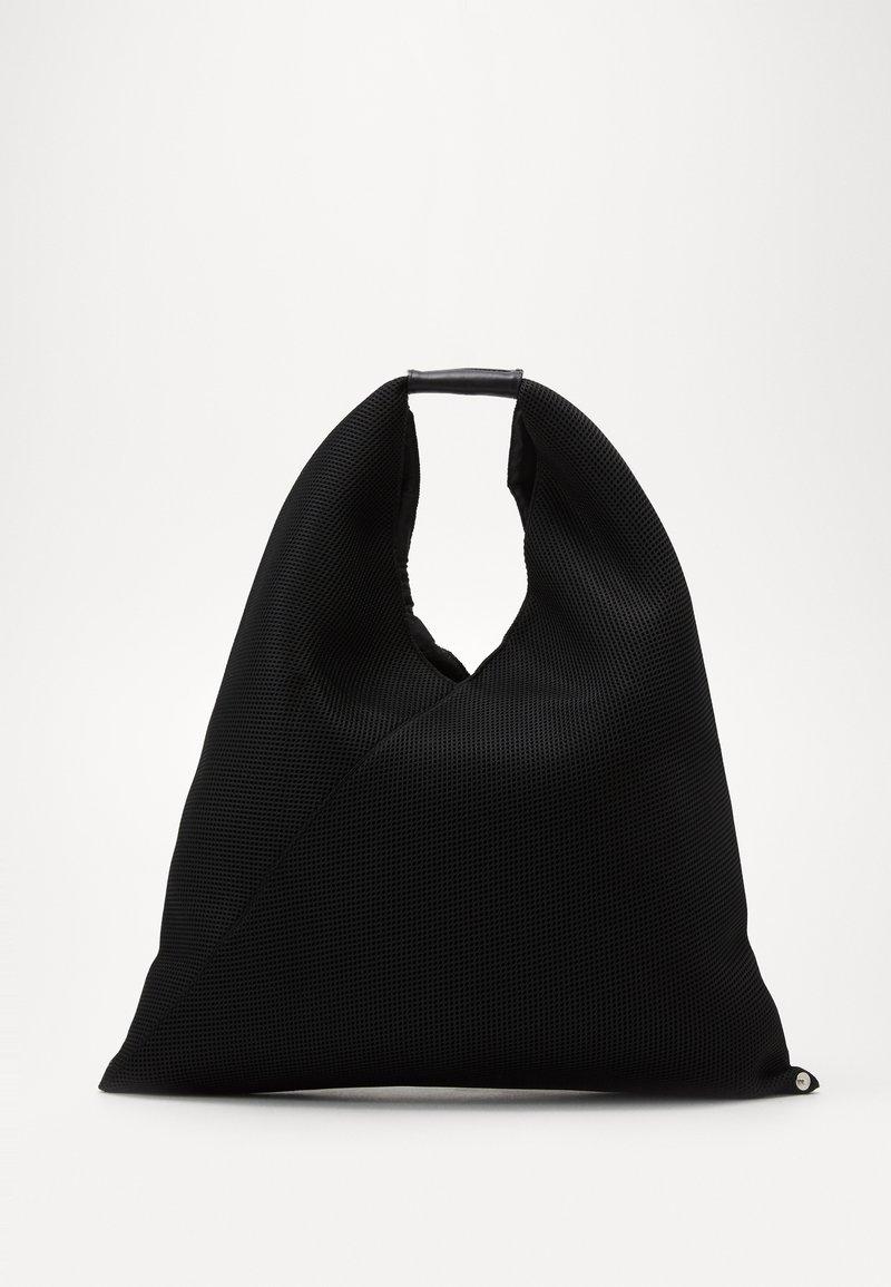 MM6 Maison Margiela - LEOPARD GIAPPONESE SMALL - Torba na zakupy - dark blue/black