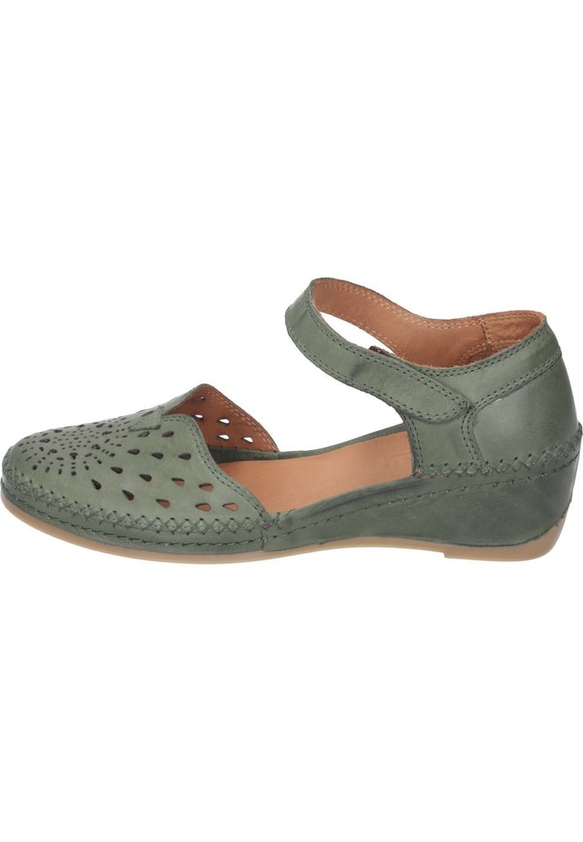 Wedge sandals - olive