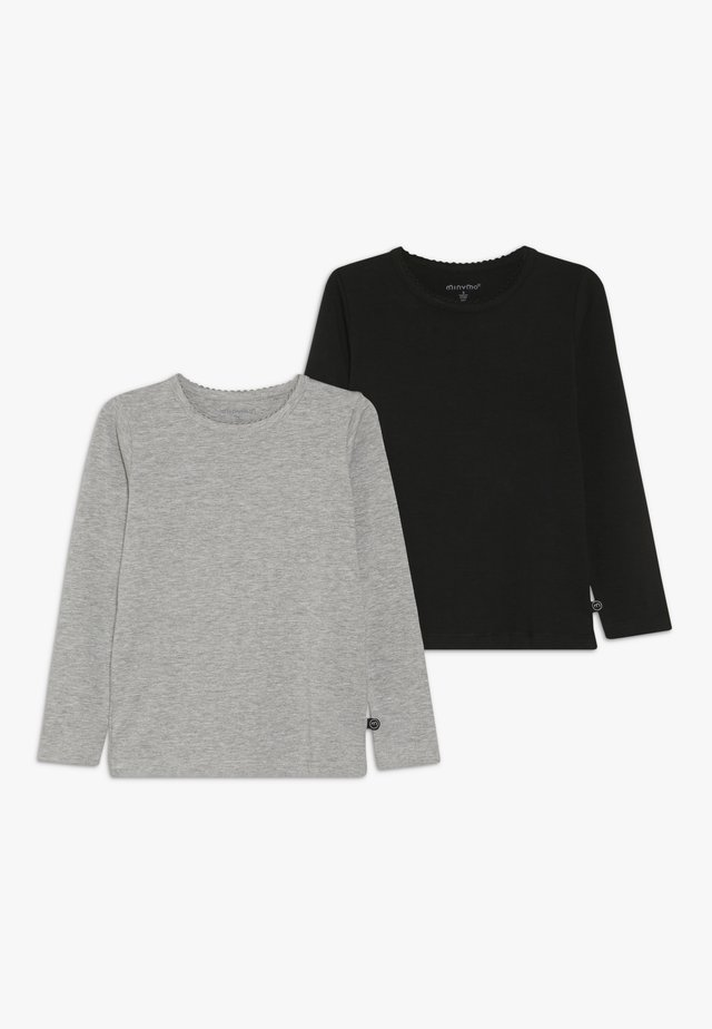 2 PACK - Langærmede T-shirts - anthacite black