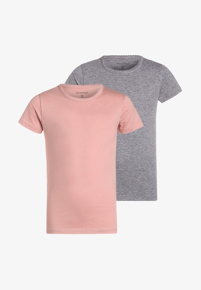 2 PACK - Basic T-shirt - blusher
