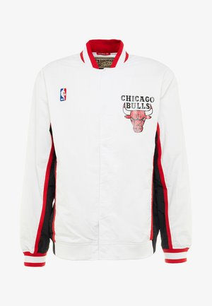 NBA AUTHENTIC WARMUP JACKET CHICAGO BULLS - Club wear - white