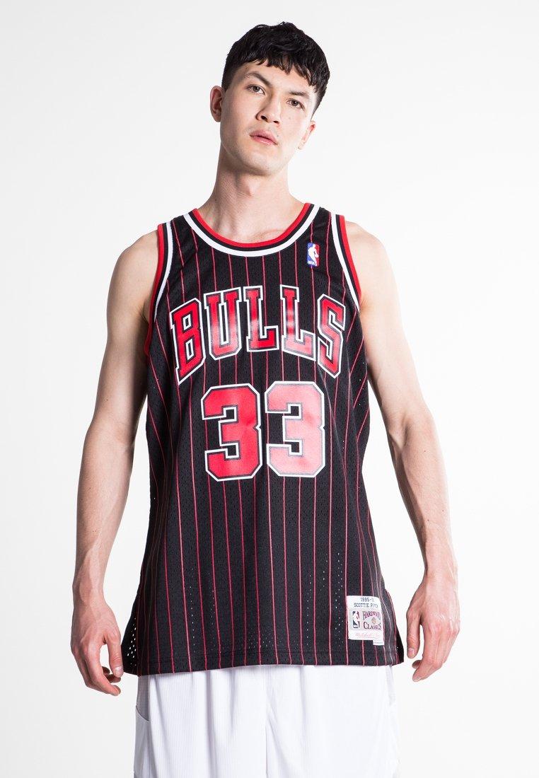 Mitchell & Ness - NBA SWINGMAN CHICAGO BULLS 33 - Teamwear - black/red
