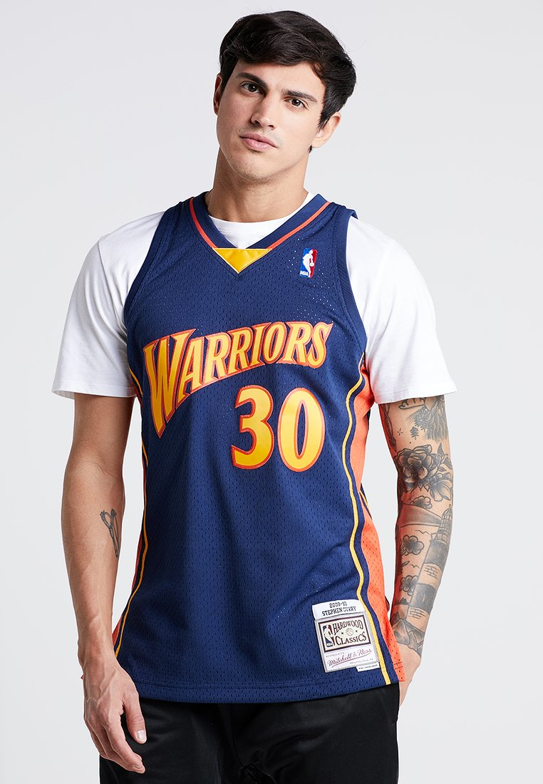 Mitchell & Ness - NBA GOLDEN STATE WARRIORS STEPHEN CURRY SWINGMAN  - Squadra - navy