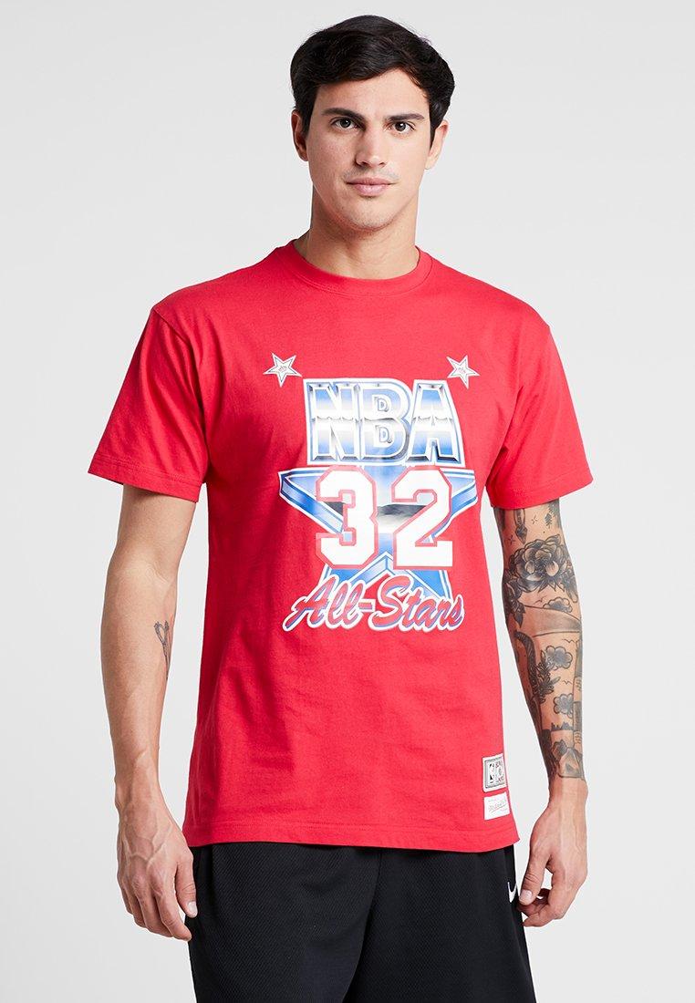 Mitchell & Ness - NBA ALL STAR WEST 1991 MAGIC JOHNSON PLAYER TEE - Print T-shirt - red