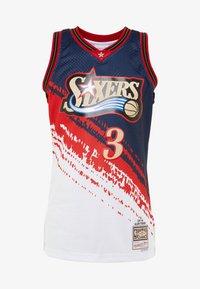 Mitchell & Ness - NBA PHILADELPHIA 76ERS INDEPENDENCE SWINGMAN - Club wear - white - 4