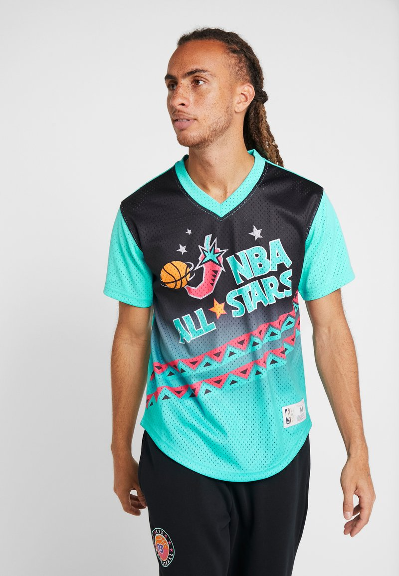 Mitchell & Ness - NBA ALL STAR GAME WINNING SHOT  - T-shirt print - black/teal
