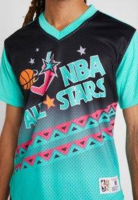 Mitchell & Ness - NBA ALL STAR GAME WINNING SHOT  - T-shirt print - black/teal - 5