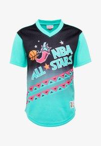Mitchell & Ness - NBA ALL STAR GAME WINNING SHOT  - T-shirt print - black/teal - 4