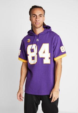 NFL NAME NUMBER HOODED SHORT SLEEVE - Sweat à capuche - purple