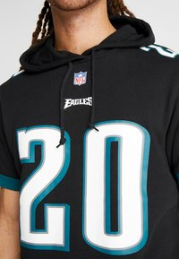 Mitchell & Ness - NFL NAME NUMBER HOODED SHORT SLEEVE - Jersey con capucha - black - 3