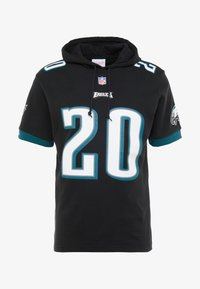 Mitchell & Ness - NFL NAME NUMBER HOODED SHORT SLEEVE - Jersey con capucha - black - 4