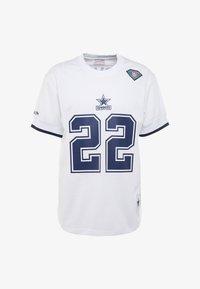 Mitchell & Ness - NFL NAME NUMBER CREW NECK - Printtipaita - white - 5