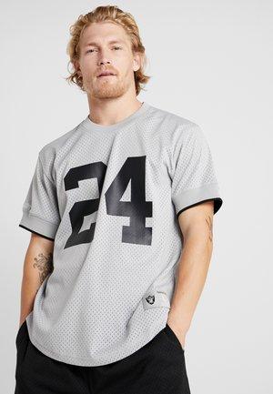 NFL NAME NUMBER CREW NECK - T-shirt imprimé - silver