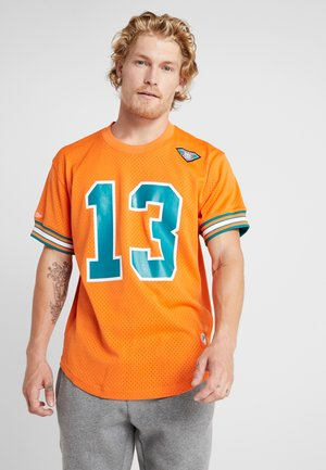 NFL NAME NUMBER CREW NECK - T-Shirt print - orange