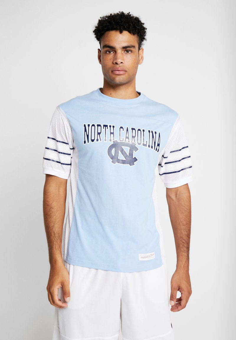 Mitchell & Ness - DUKE BLUE DEVILSCUT AND SEW TEE - Print T-shirt - blue