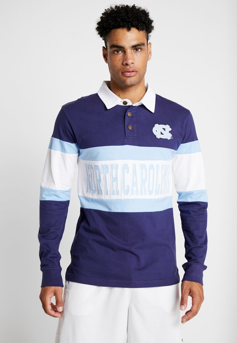 Mitchell & Ness - NCAA LONG SLEEVE RUGBY POLO - Piké - navy