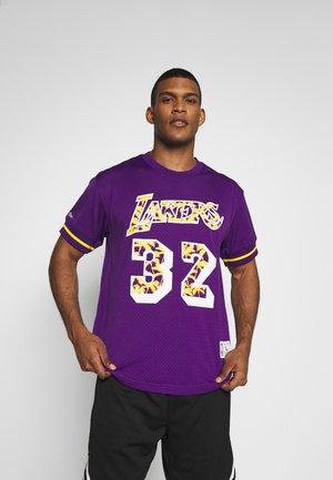 NBA LA LAKERS MAGIC JOHNSON NAME NUMBER CREWNECK - Equipación de clubes - purple