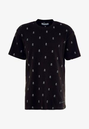 ALL OVER TENNIS TEE - T-shirts print - black