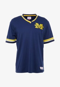 Mitchell & Ness - NCAA MICHIGAN THE OVERTIME WIN TEE - T-shirt print - navy - 5