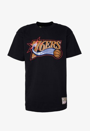 NBA HWC TEAM LOGO TRADE TEE PHILADELPHIA 76ERS - Club wear - black