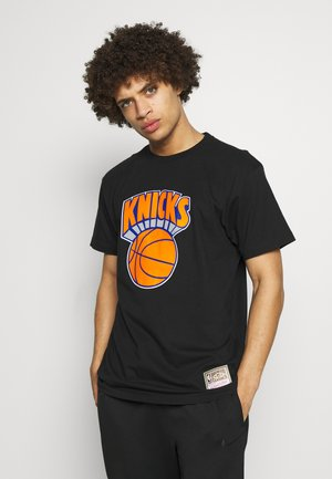 NBA HWC TEAM LOGO TRADE TEE NEW YORK KNICKS - Article de supporter - black