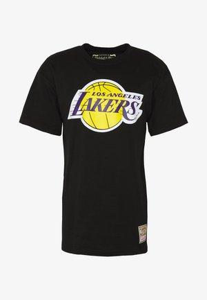 NBA TEAM LOGO TRADE TEE LA LAKERS - Klubbkläder - black