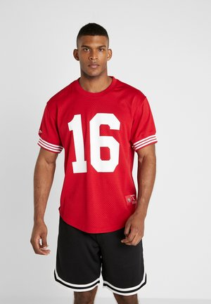 NAME NUMBER CREWNECK JOE MONTANA SAN FRANCISCO 49ER - T-Shirt print - red