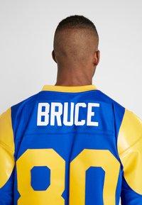 Mitchell & Ness - NFL LEGACY  ST. LOUIS RAMS I. BRUCE #80 - T-shirt imprimé - royal - 3
