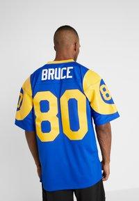 Mitchell & Ness - NFL LEGACY  ST. LOUIS RAMS I. BRUCE #80 - T-shirt imprimé - royal - 2