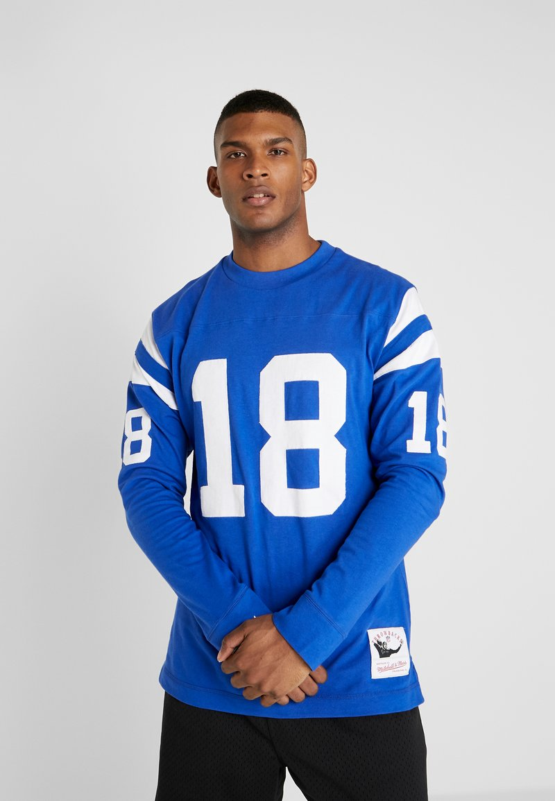 Mitchell & Ness - NFL NAME NUMBER LONG SLEEVE INDIANAPOLIS COLTS PAYTON - Longsleeve - blue