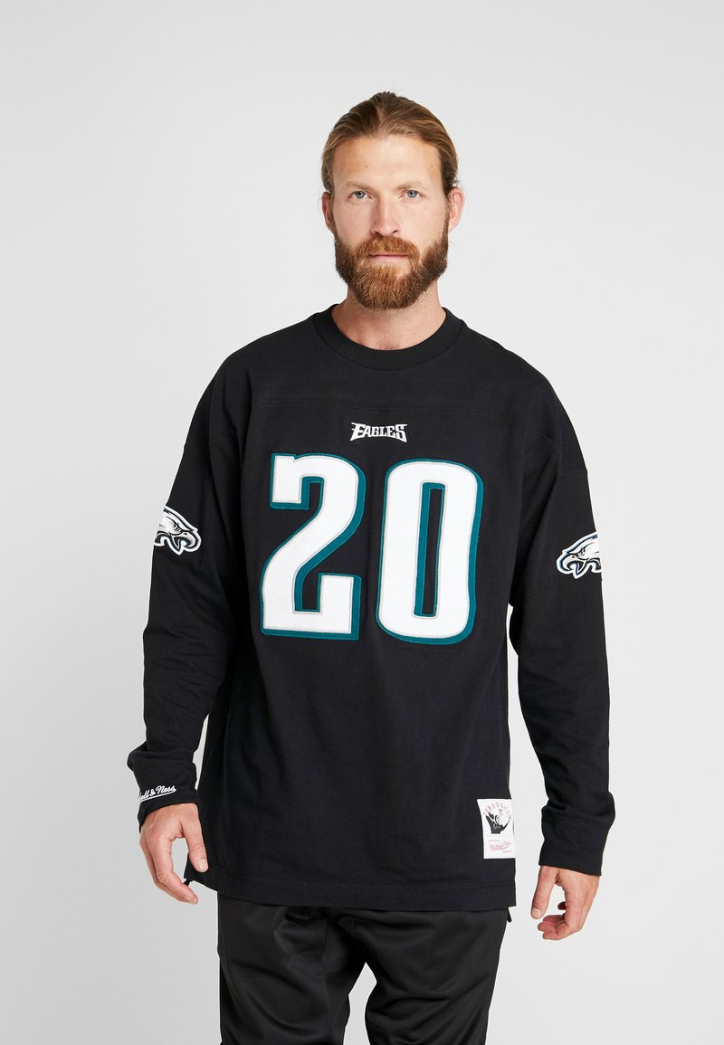 Mitchell & Ness - NFL NAME NUMBER LONG SLEEVE PHILADELPHIA EAGLES BRIAN DAWKINS - T-shirt à manches longues - black