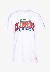 Mitchell & Ness - NBA LA CLIPPERS ARCH LOGO TEE - T-shirt print - white - 4