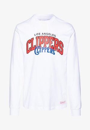 NBA LA CLIPPERS ARCH LOGO LONG SLEEVE - Klubové oblečení - white