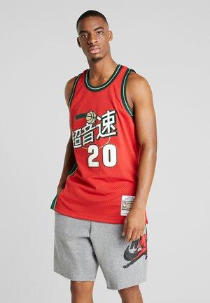 NBA SWINGMAN SEATTLE SUPERSONICS CNY - Pelipaita - cardinal/black