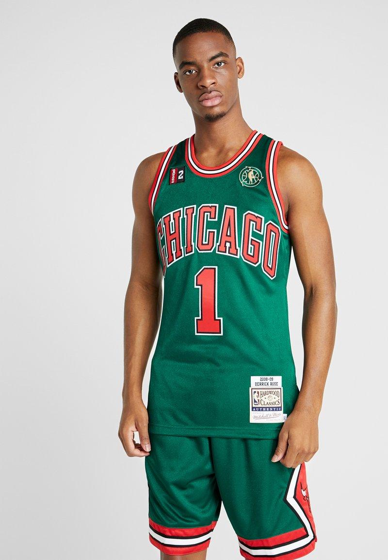 Mitchell & Ness - NBA AUTHENTIC CHICAGO BULLS DERRICK ROSE 2008-09 #1 - Pelipaita - green