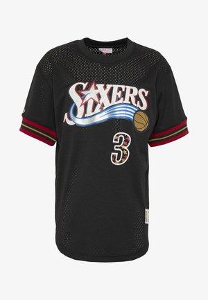 NBA PHILADELPHIA 76ERS NAME NUMBER CREWNECK ALLEN IVERSON - Pelipaita - black