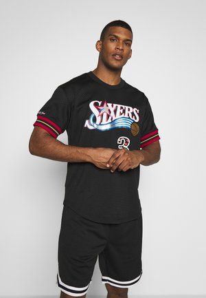 NBA PHILADELPHIA 76ERS NAME NUMBER CREWNECK ALLEN IVERSON - Article de supporter - black