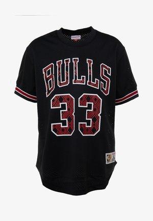 NBA CHICAGO BULLS NAME & NUMBER CREWNECK SCOTTIE PIPPEN - Pelipaita - black
